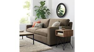 Who Makes Crate And Barrel Sofas Axis Ii 2 Seater Brown Microfiber Sofa Crate And Barrel
