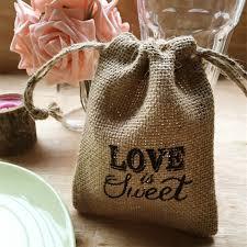 burlap wedding favor bags printed is sweet rustic burlap wedding favor bags ewfb119 as