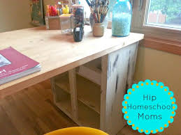 Diy Craft Desk Diy Craft Desk Hack 1 Hip Homeschool