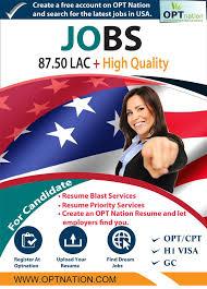 Resume Blast Service 151 Best Usa Jobs H1b Jobs Engineering Jobs Opt Cpt