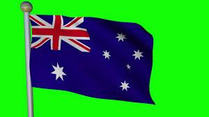 australia flag 2 4k green screen free high quality effects