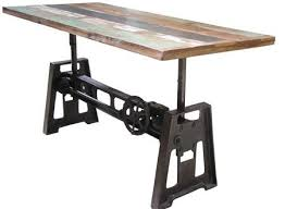 adjustable height c table industrial adjustable height coffee table natural reclaimed intended
