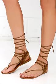 Steve Madden White Wedges Steve Madden Walkitt Brown Sandals Leg Wrap Sandals 59 00