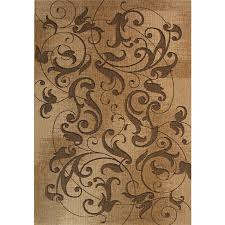 Outdoor Bamboo Rugs For Patios Shop Kannapolis Chestnut Rectangular Indoor Outdoor Machine Made