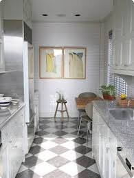 contemporary black and white tile floor kitchen for design ideas