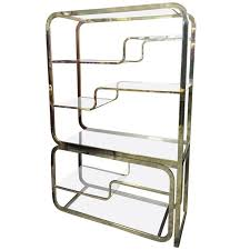 How Do You Pronounce Etagere Milo Baughman For Design Institute Of America Brass Etagere For