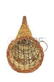 still picture of decorative wooden basket for thanksgiving day