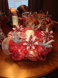 christmas centerpiece i use a straw round wreath and floral pins
