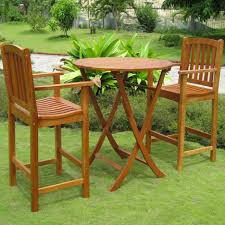 Bar Height Bistro Table Dining Room Beauteous Small Outdoor Dining Room Decoration Using