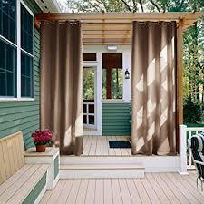 amazon com outdoor curtain panel for patio nicetown grommet top