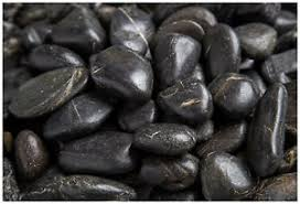Black Garden Rocks Landscape Landscaping Garden Decorative Rocks Stones Pebbles Black