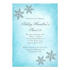 16 winter sparkle snowflakes invitation card