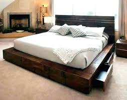 Elevated Bed Frames High Bed Frames Image Of Rustic Bed Frame High