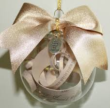 personalized ornaments wedding personalized wedding invitation ornament with bow and charm on