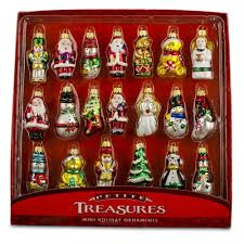 christmas ornament sets miniature wooden christmas decorations decoration image idea