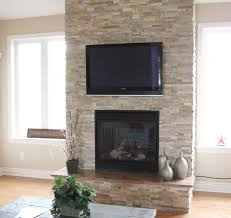 stone fire places split stone fireplace with tv modern family room detroit