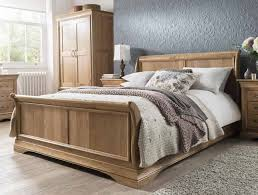 Oak Sleigh Bed Kensington Oak Sleigh Bed Frame Buy At Bestpricebeds
