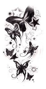 black and grey butterfly tattoos zoeken
