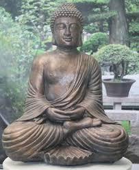 silver buddha statue sculpture contemporary sclupture
