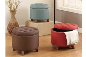 amazon com poundex linen like polyfiber ottoman with storage