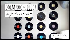 wall mounted record player dorm room decor diy vinyl record wall youtube