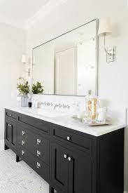 bathrooms with black vanities a gorgeous black bathroom vanity sits on maze marble floor tiles