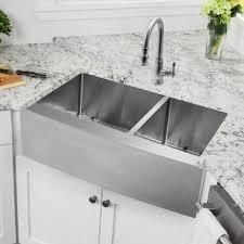 Drop In Farmhouse Kitchen Sink Drop In Apron Front Sink Wayfair