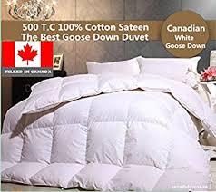 Comforters In Canada Amazon Com The Best Canadian White Goose Down Duvet Comforter
