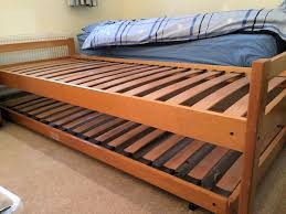 Single Wood Bed Frame Single Wooden Bed Frame With Pull Out Guest Bed Frame In