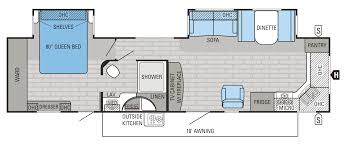 Travel Trailers With Bunk Beds Floor Plans 2016 Jay Flight Travel Trailer Floorplans U0026 Prices Jayco Inc