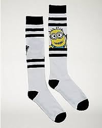 Minion Socks Adults Despicable Me Minions Despicable Me Costumes Spencer U0027s