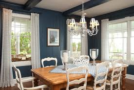 Curtains For Dark Blue Walls Blue Dining Room Ideas Wall Ornament Dark Blue Wall Rectangle