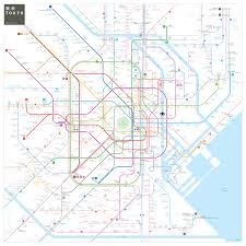 Dubai Metro Map by A Simple Map Of The Tokyo Metro Map Of Tokyo Subway System