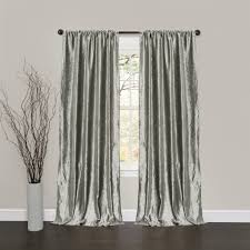 Silver Window Curtains Velvet Window Curtain Pair Lush Decor Www Lushdecor