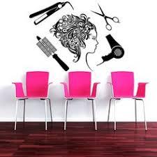 Hair Salon Interiors Best Accessories Wall Decal Beauty Salon Hair Salon Fashion Girl Woman Haircut