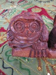 funky stuff carved 3 wise monkey statue hardwood ornament