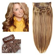 Blonde Hair Extensions Clip In by 16