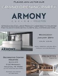 armony cucine houston grand opening decorative center houston