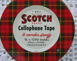 Scotch Plaid Scotch Tape Etsy