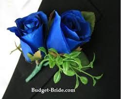 royal blue boutonniere royal blue boutonniere