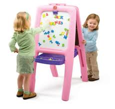 step2 arts u0026 crafts magnetic drawing board pink kids easel