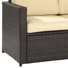 Cushions For Wicker Settee Furniture Bayshore Outdoor Wicker Loveseat For Patio Furniture Ideas