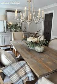 Lighting For Dining Room Table Dining Room Decor Ideas Rust Farmhouse Style With Natural Wood
