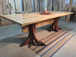 Elm Dining Table Live Edge Matched Elm Dining Table Beautiful Salvaged Live Edge
