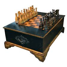 chess coffee table cocktail includes large pieces black gold