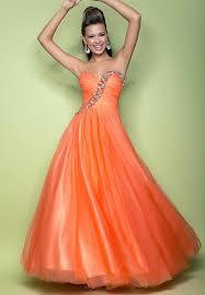 outrageous orange prom dresses 2013