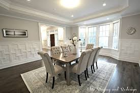 Wainscoting In Dining Room Sherwin Williams Dorian Gray Dining Room Wainscoting Zillow Digs