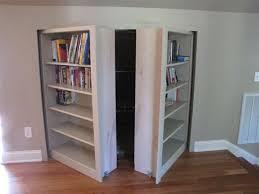 Bookcase Closet Doors Invisidoor Door Bookcase Traditional Family Room
