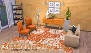 Orange Modern Rug Simsational Designs Colour Me Orange Modern Rugs