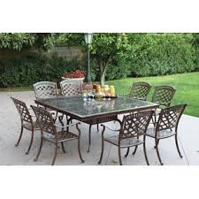 powder coated aluminum outdoor dining table powder coated aluminum patio furniture wayfair